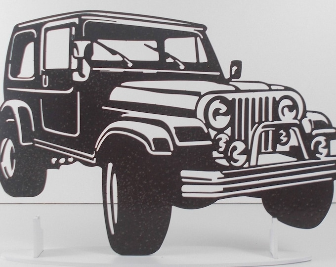 Jeep Wrangler sign sign in painted iron