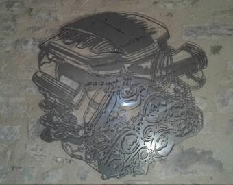 METAL plate MOTOR BMW series M in painted steel