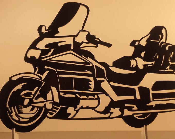 Plate teaches HONDA GOLDWING 1500 painted steel effect finish hammered