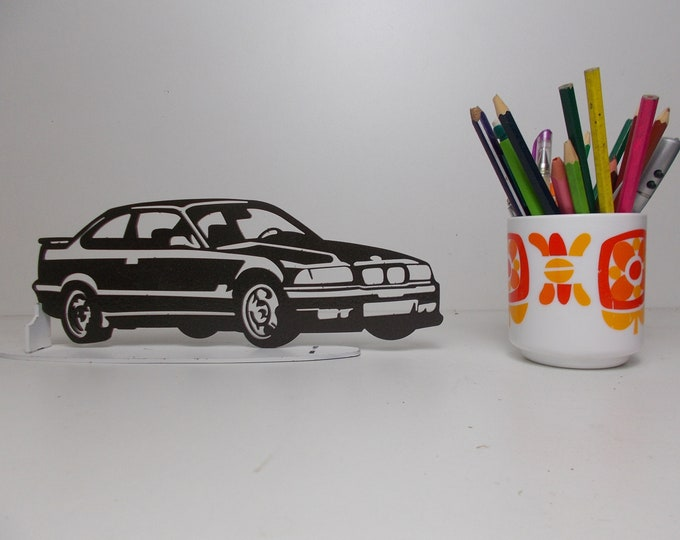plated metal BMW E36 sign decoration cut M
