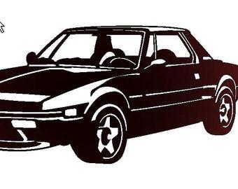 FIAT X1/9 metal plate