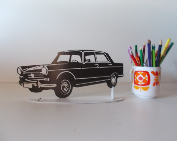 Plate teaches PEUGEOT 404 painted effect finish hammered