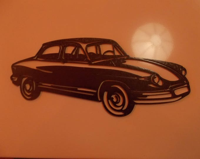 PANHARD PL17 sign plate in painted iron