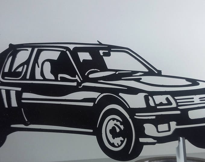 Painted iron shop sign PEUGEOT 205 T16 plate