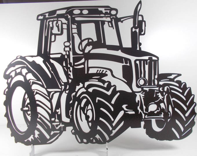 decoration plate teaches in metal TRACTEUR AGRICOLE MASSEYFERGUSSON