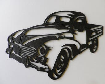 Plaque teaches PEUGEOT 203 PICK UP in painted iron