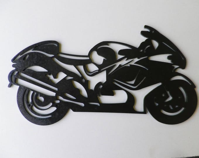 Plate signs SUZUKI YABABUSA in painted iron finish hammered effect