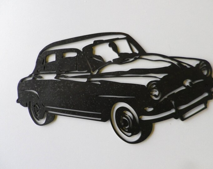 Plate teaches SIMCA ARONDE steel finish paint hammered effect