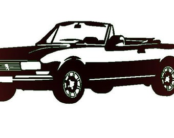 METAL plate PEUGEOT 504 convertible