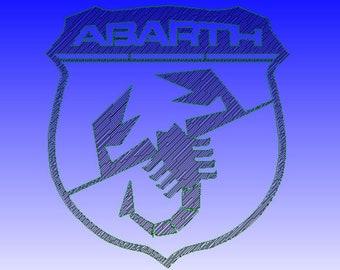 Plate plaque abarth logo