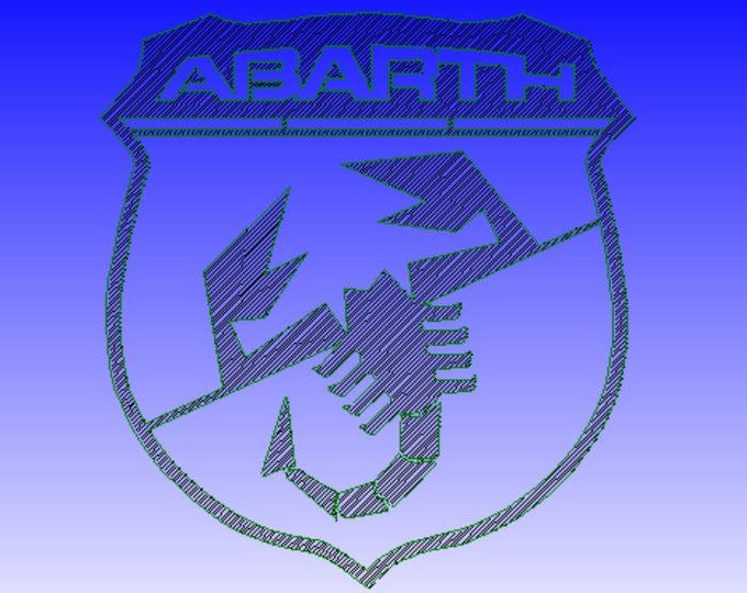 Plate plaque abarth logo