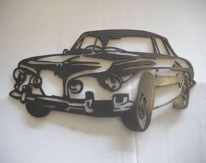 Plaque painted iron shop sign KARMAN VW T34
