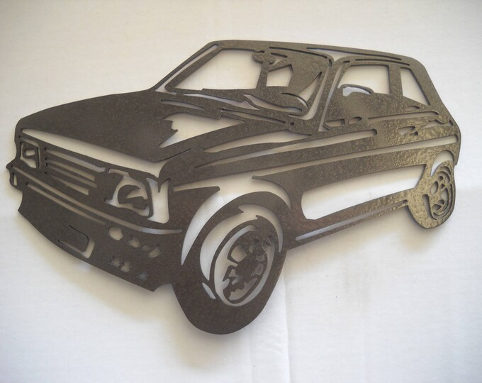 Painted iron shop sign PEUGEOT 104 ZS2 plate