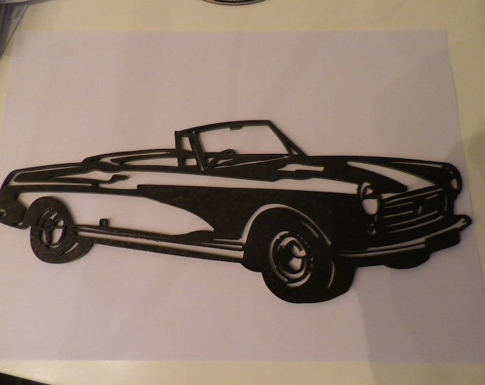 plaque teaches PEUGEOT 404 CABRIOLET in painted iron