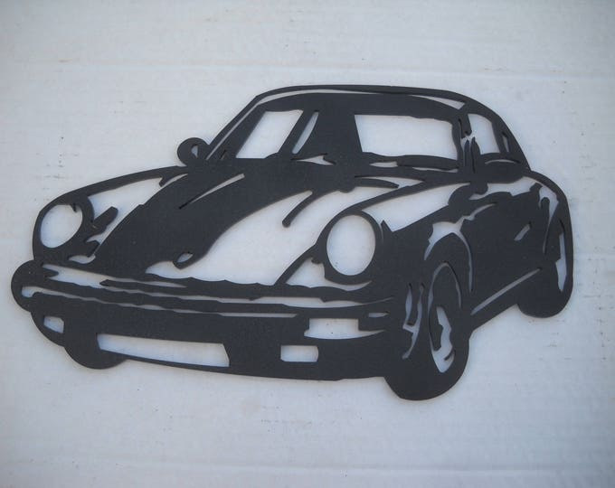 PLAQUE signs PORSCHE 911 in painted iron