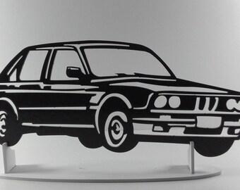 Plaque painted iron shop sign BMW E30