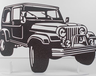 Jeep Wrangler iron plate plaque painted