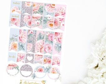 FROSTED PEONY | Page Flag Sticker Sheet