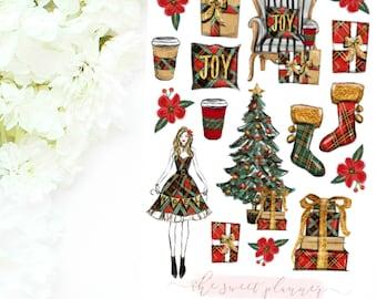 HOLLY JOLLY | Christmas Deco Sticker Sheet