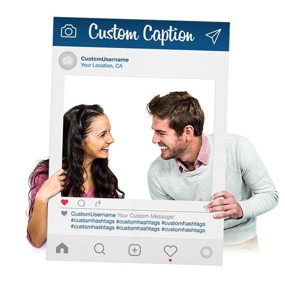 Instagram Selfie Frame Blue Custom Printed Cutout for Social | Etsy