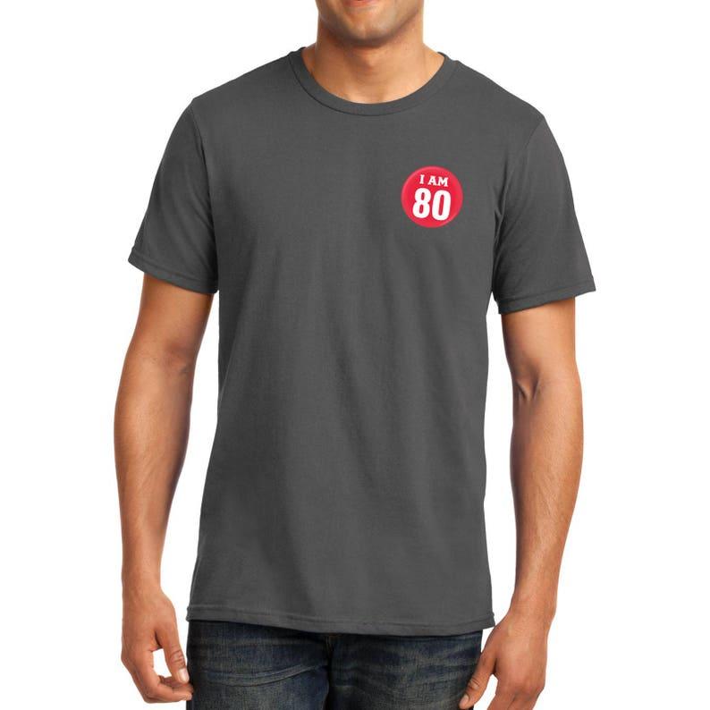 Mens Super Soft Birthday Badge Pocket Print Tshirt