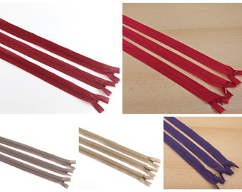 Zipper sewn-out 3 pieces set