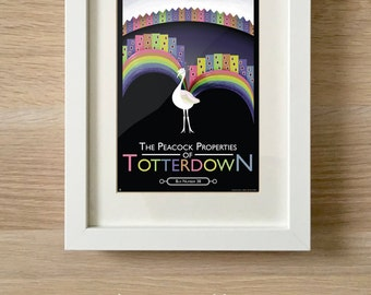 Totterdown etsy the peacock properties of totterdown bristol print reheart Images