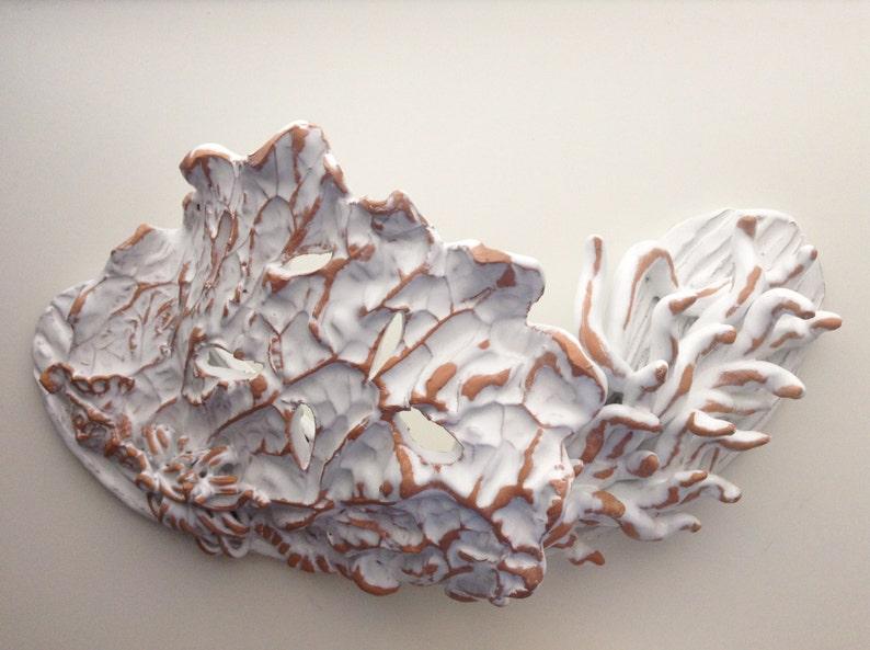 Applique corallo in ceramica di vittoria valmaggia lampada etsy