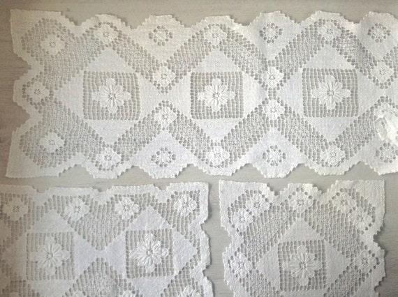 Rechteckige Deckchen Häkeln Vintage Weiß 6 Etsy