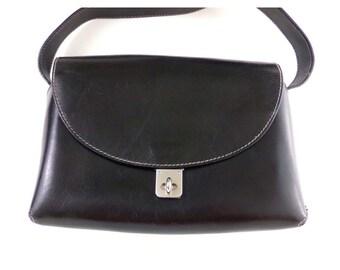 81f1a1d33d Vintage Desmo leather handbag black satchel purse shoulder