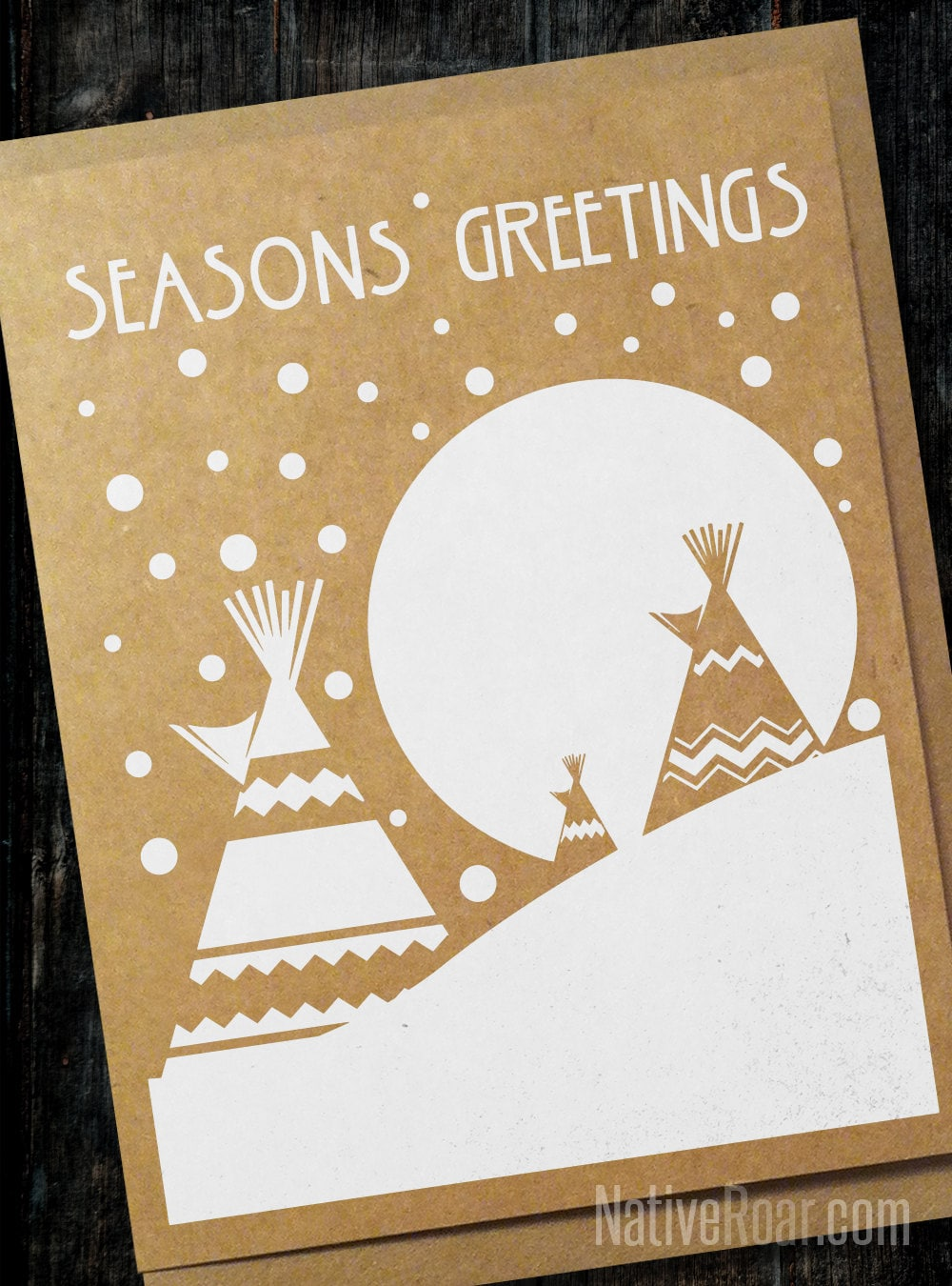 Snowy Night Teepee Native American Christmas Card Seasons Etsy