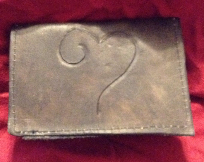 Leather Heart Bifold Wallet