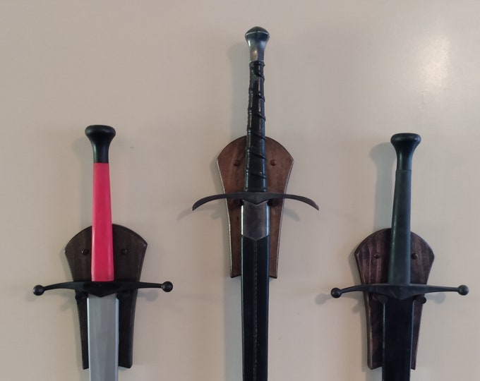 Vertical Sword Wall Display
