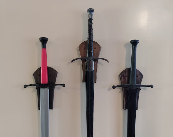 Custom Vertical Sword Wall Display