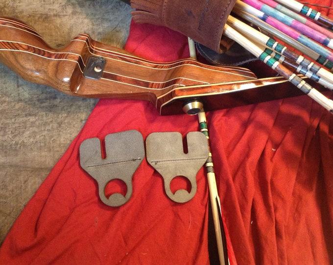 Grey Suede Reversible Archery Tabs