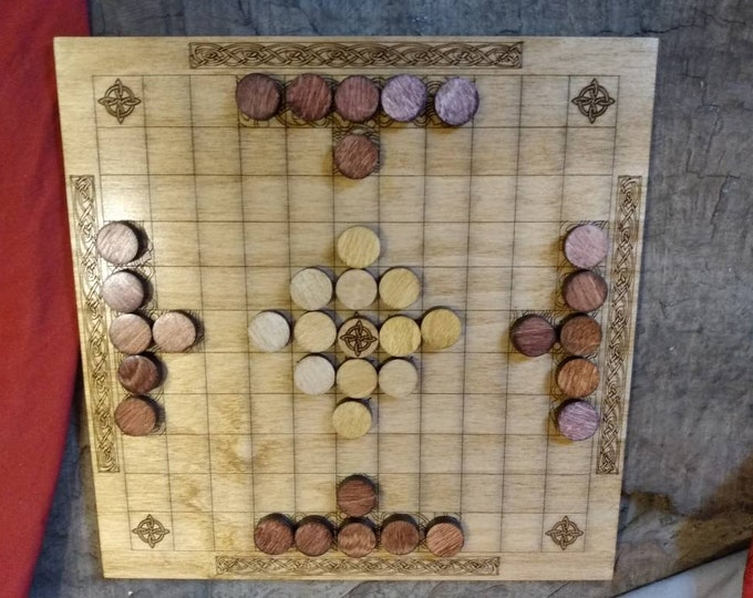 Hnefatafl (Tafl) Board Game with Marked Camps