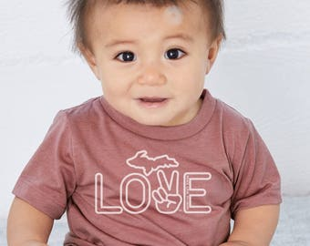 Peace Love Michigan - Baby, Toddler & Youth Tee