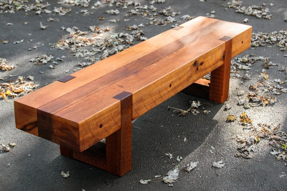Wood Bench Outdoor Bench Rustic Bench Etsy