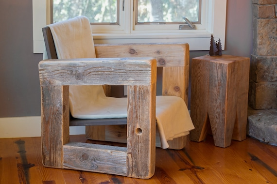 Terrific Wood Armchair Lounge Sofa Accent Chair Rustic Modern Farmhouse Reclaimed Salvaged Gmtry Best Dining Table And Chair Ideas Images Gmtryco