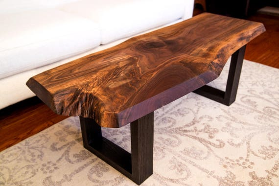 Amazing Wood Coffee Table Bench Console Table Sofa Table Live Edge Walnut Slab Ibusinesslaw Wood Chair Design Ideas Ibusinesslaworg