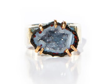 Raw Crystal Ring Raw Stone Ring Crystal Ring Boho Ring Gemstone Ring Natural Stone Ring Raw Gemstone Ring Rough Crystal Ring Raw Quartz Ring