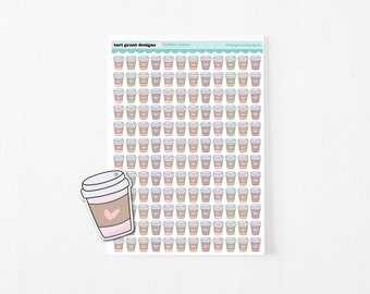 Coffee Icon Planner Stickers