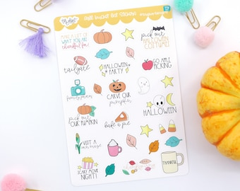 Fall and Halloween Bucket List Planner Stickers