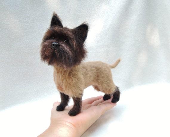 Needle Felted Dog Cairn Terrier Skye Terrier Terrier Etsy