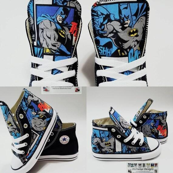 d89fc9bbbc32 Batman converse shoes batman birthday partycustom black