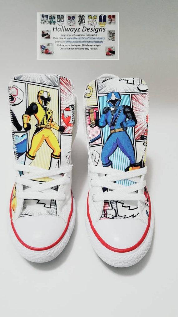 Ragazzo Converse Ninja Ranger Steele White Power Ragazza Etsy EZqRX6wf6
