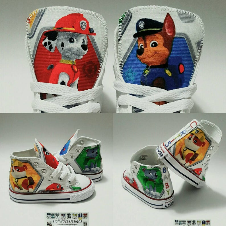 dd49f237996b Paw Patrol Converse shoes boy birthday sneakers custom
