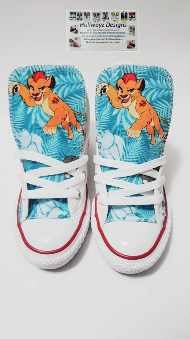 21ca5c8607d7f1 Disney Lion Guard lion king Converse shoes custom white