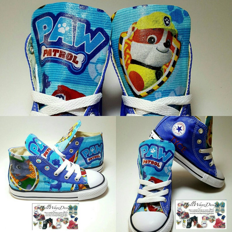 588cfeeeaa774e Sale Custom Blue Paw Patrol Converse Size 13c pawpatrol