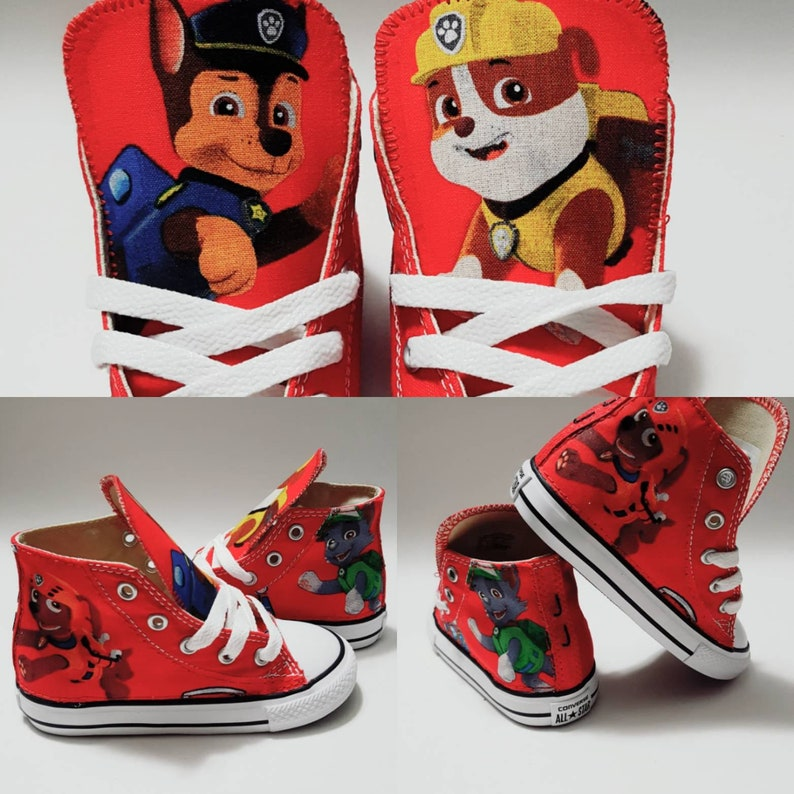 55a4b50415d3a Paw Patrol Birthday Pawpatrol Converse Shoes red chucks
